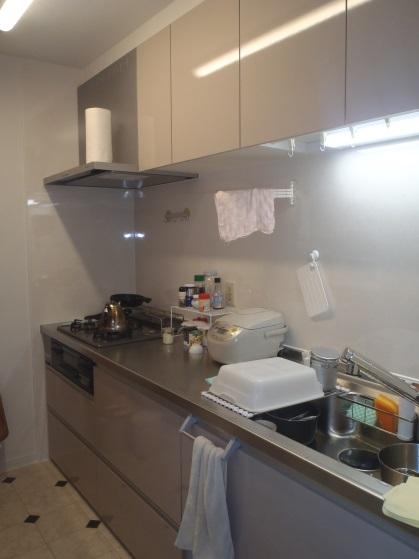 明るいキッチン・収納拡大