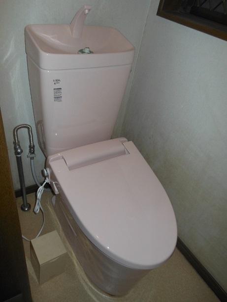 新しいトイレへ交換